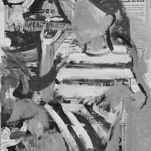 """Blue Girl"", collage / acrylic on canvas, 60cm x 80cm, 2011"