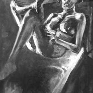 """Nude"", acrylic on canvas, 110cm x 170cm, 2004 (Rizzo-Alvarado Collection, Geneva)"