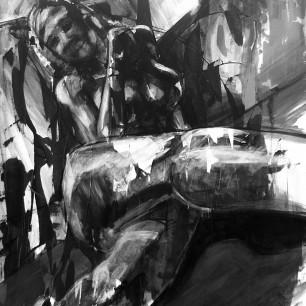 """""""Cross legged"""", acrylic on canvas, 100cm x 120cm, 2013"""